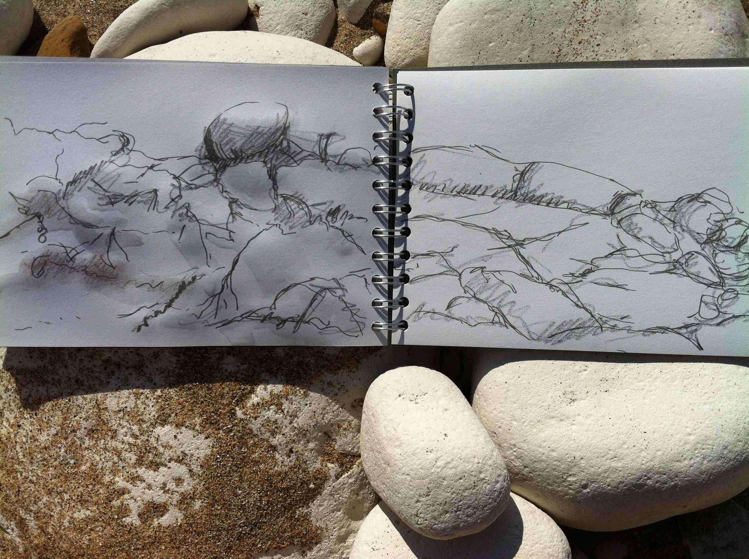 Alice Fox sketchbook Bridlington north beach