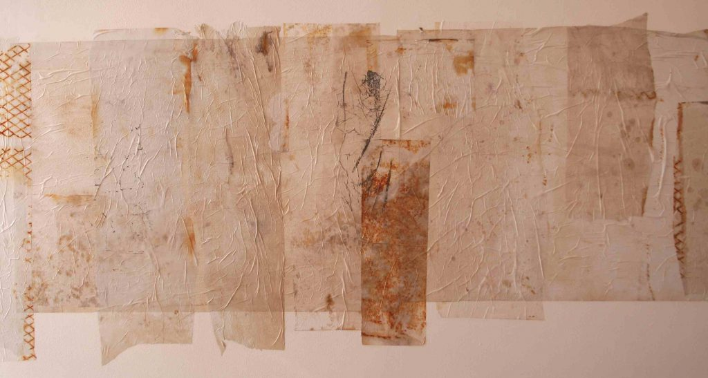 Alice Fox Spurn Cloth (extended) rusted and collaged paper(detail)