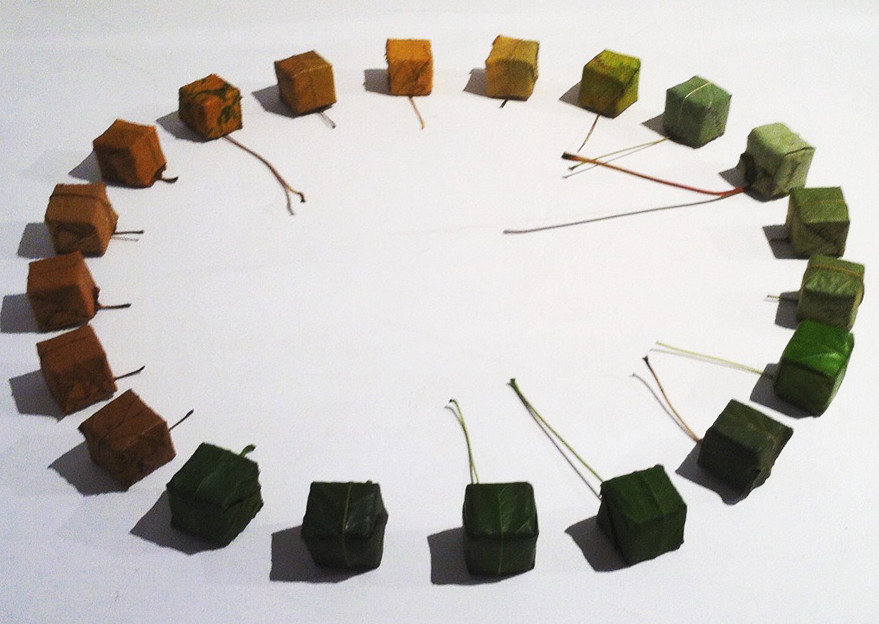 Alice Fox 20 stitched leaf cubes