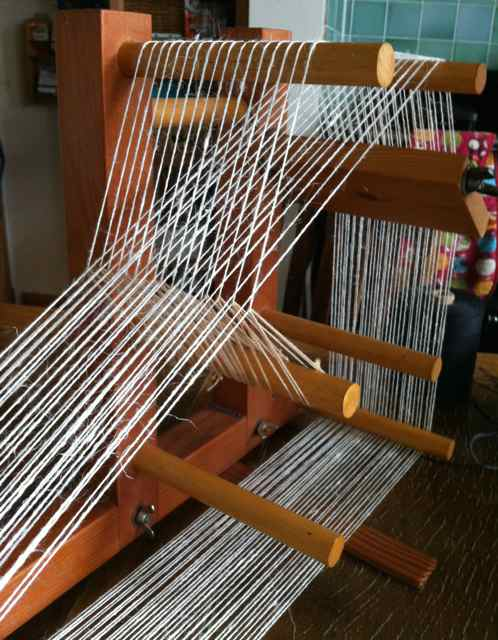 Alice Fox Inkle loom warped