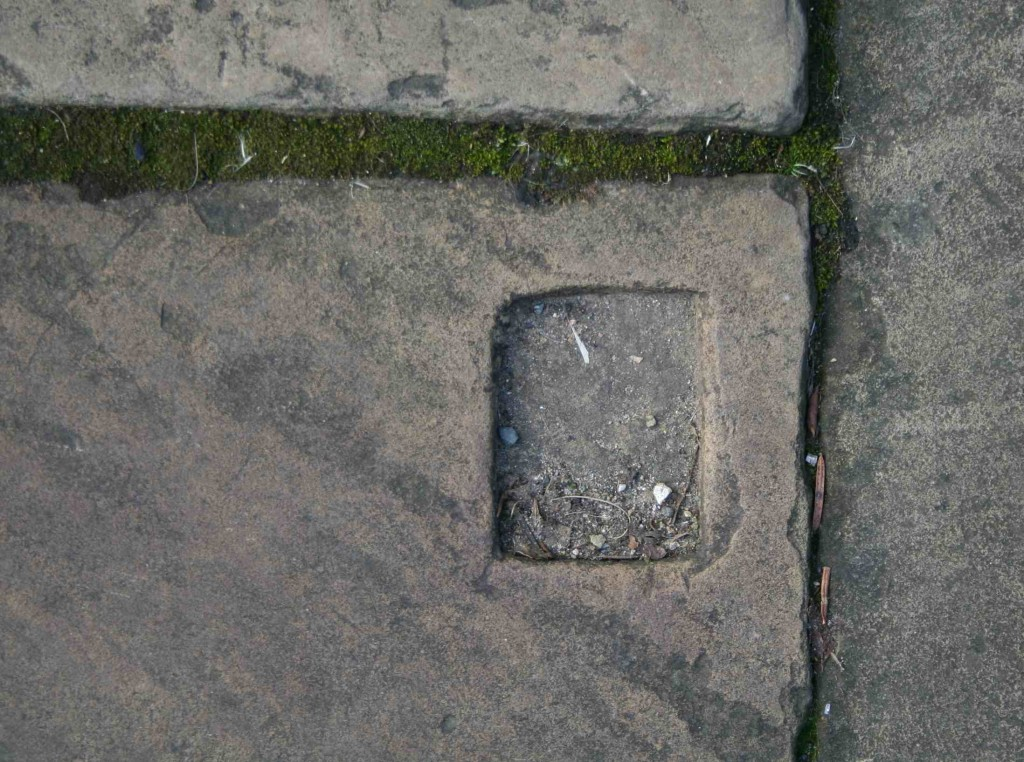 Alice Fox Saltaire pavement marks rectangle