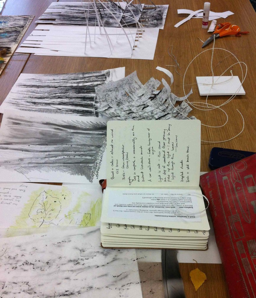 Alice Fox TSG drawing weekend work table