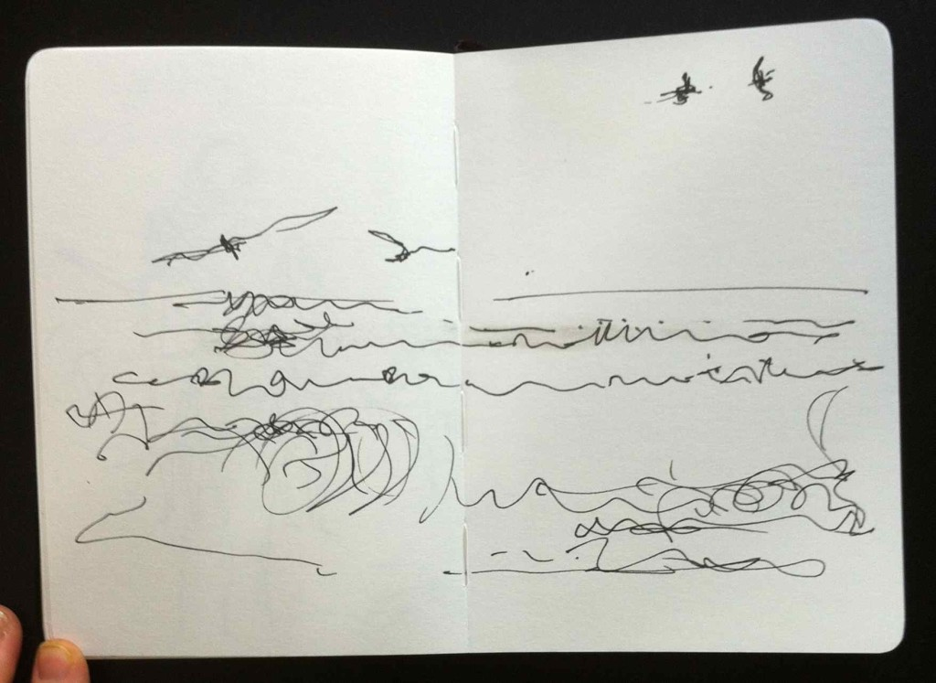 Alice Fox north sea waves sketch