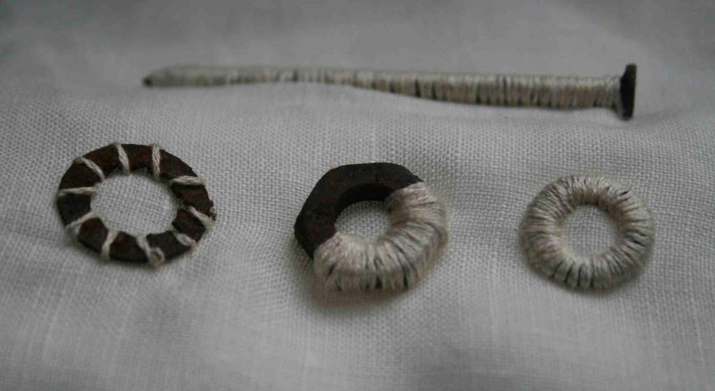Alice Fox stitched washers and nail