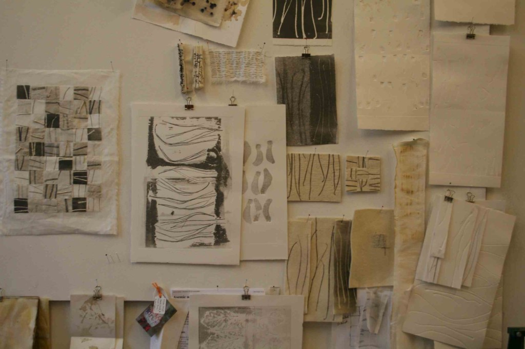 Alice Fox studio wall section