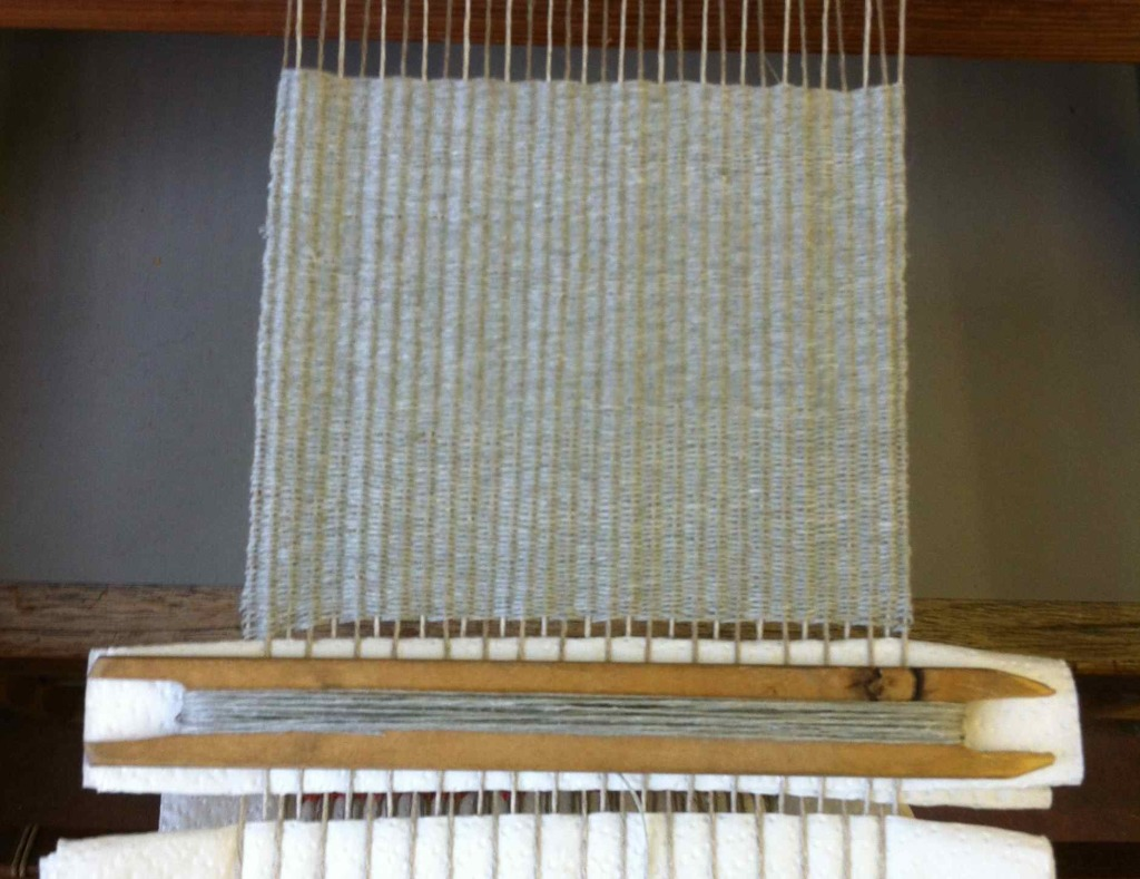 Alice Fox table loom weave sample