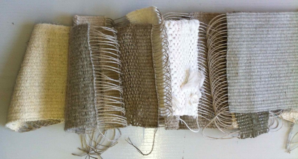 Alice Fox weave samples off the loom